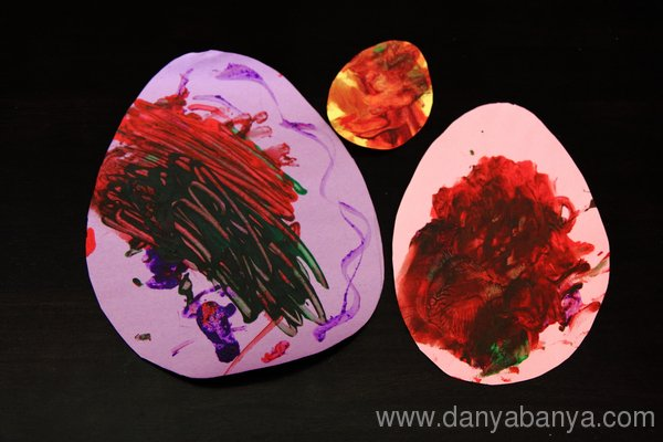 Painted paper easter eggs
