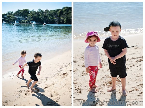Playing at Balmoral Beach