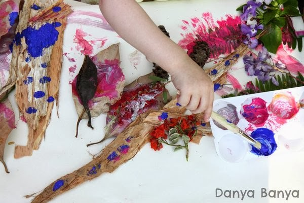 Spring Nature Art for preschoolers