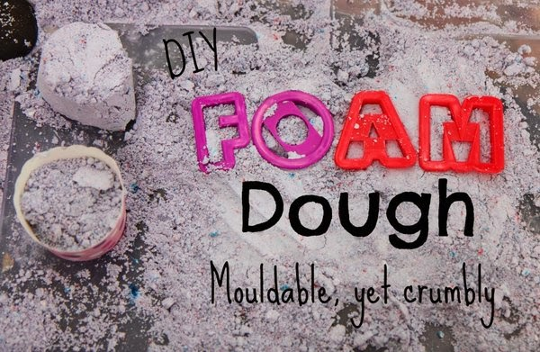 DIY Foam Dough - mouldable, yet crumbly