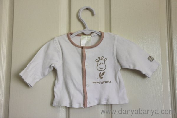 Refashioned Baby Cardigan