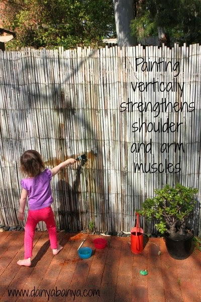 Painting vertically strengthens shoulder and arm muscles