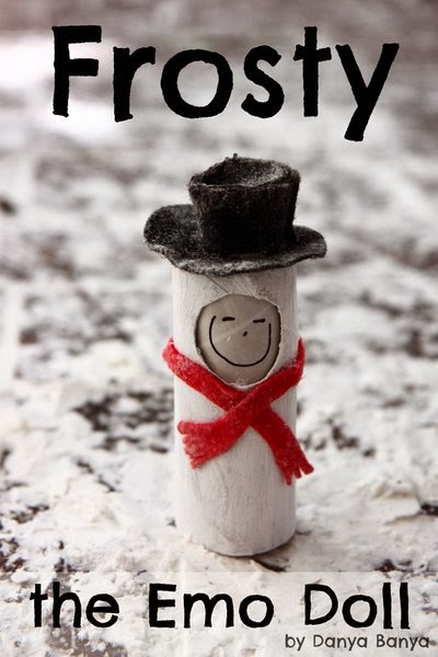 Frosty the Emo Doll with changeable facial expressions to teach kids about emotions