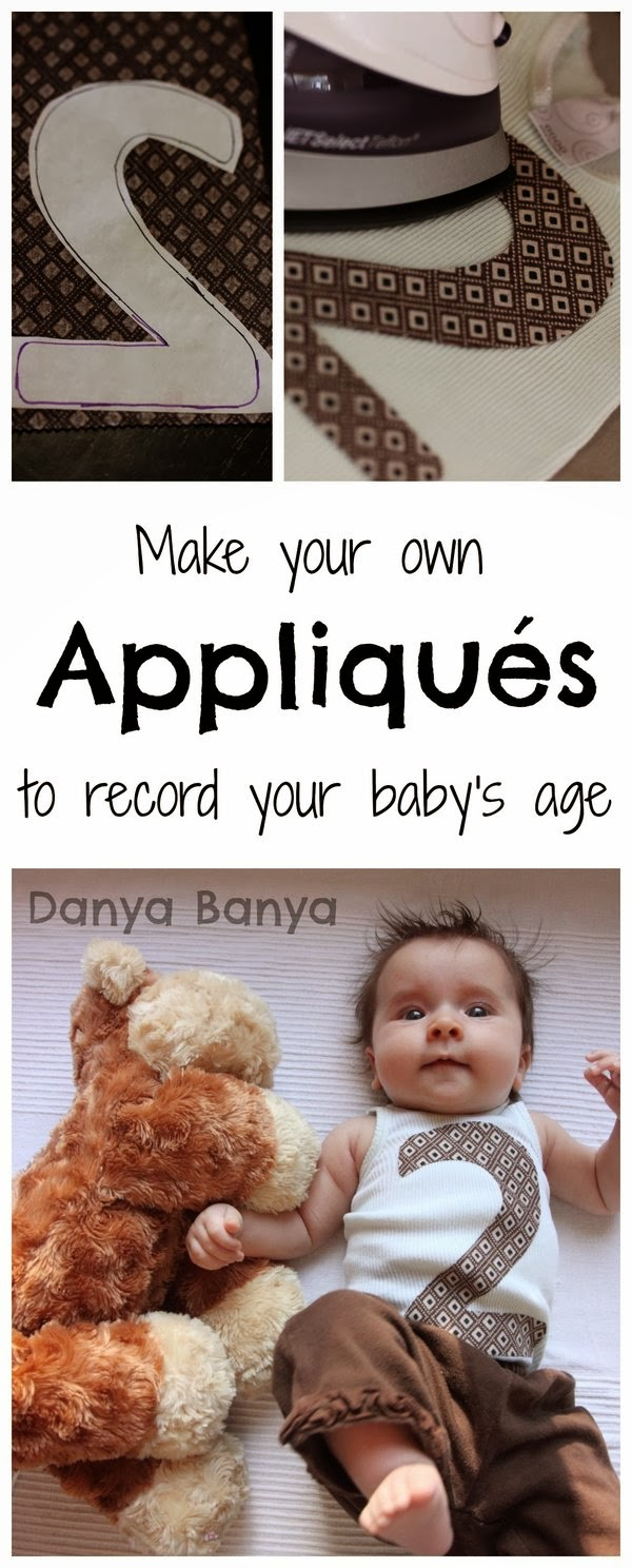Make your own appliques to record your baby's age