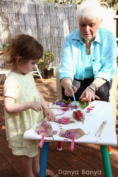 Granny and Granddaughter crafting together