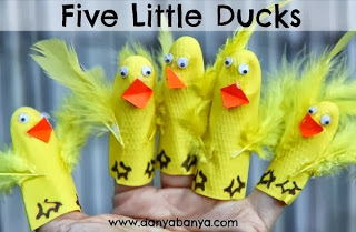 Five Little Ducks Hand and Finger Puppets