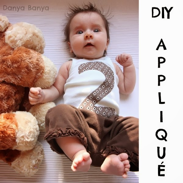 DIY Applique to record your baby's age