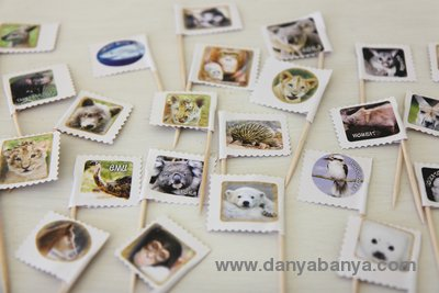 Easy zoo animal cupcake toppers - can be customised to suit any theme