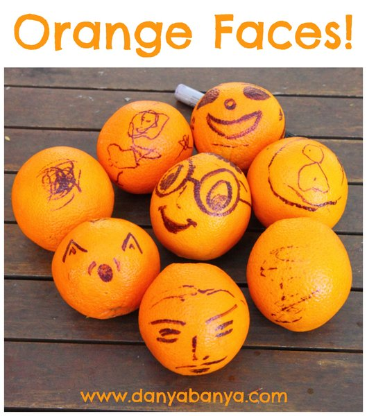 DIY Orange Faces using a permanent marker (Sharpie)
