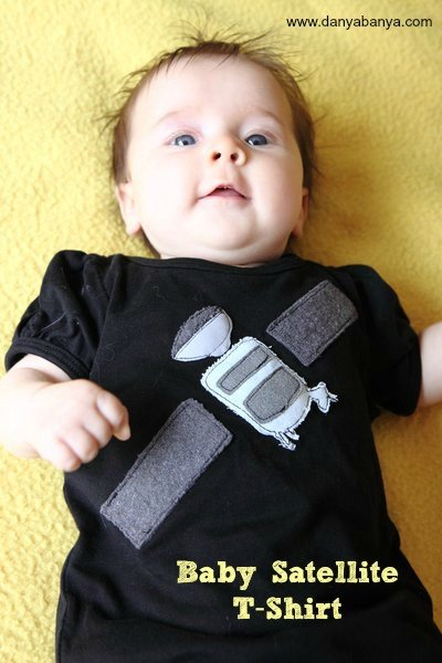 How to make a baby satellite appliqué T-shirt
