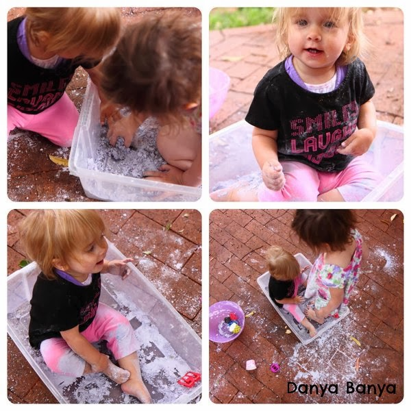 Foam Sensory Dough - let the kids get messy!
