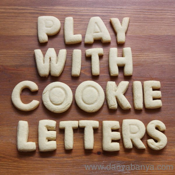 Play with cookie letters! Easy recipe for alphabet learning fun