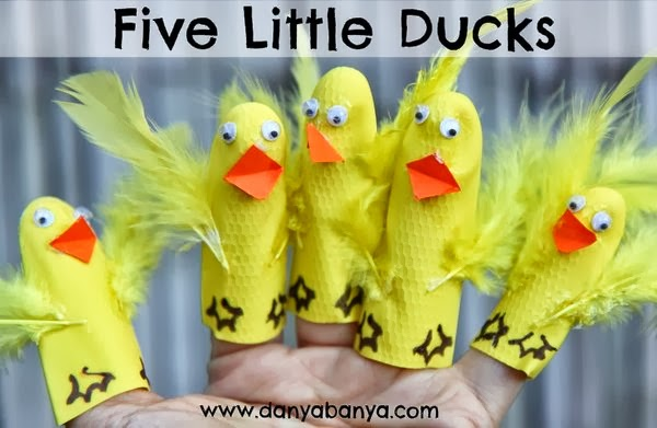 Five Little Ducks Finger Puppets Craft