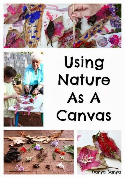 Using Nature as a Canvas - learning about and painting with the flora of our neighbourhood.