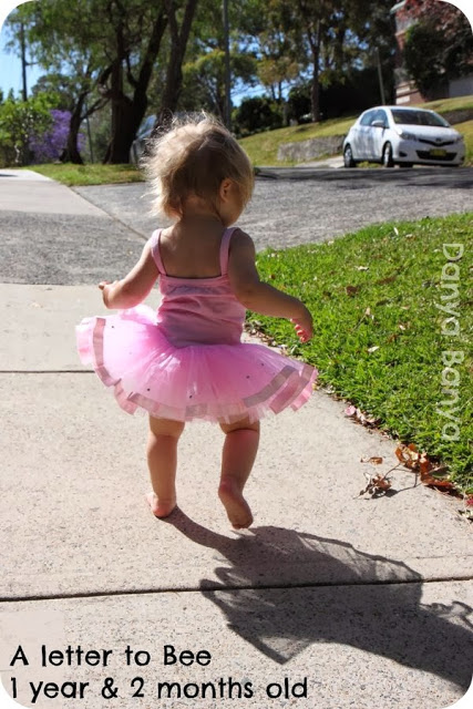 """A letter to """"Toddler"""" Bee (1 year & 2 months old)."""