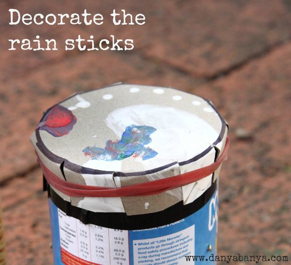 decorate the rain sticks