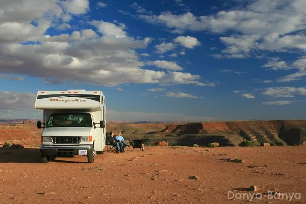 Camping beside canyons