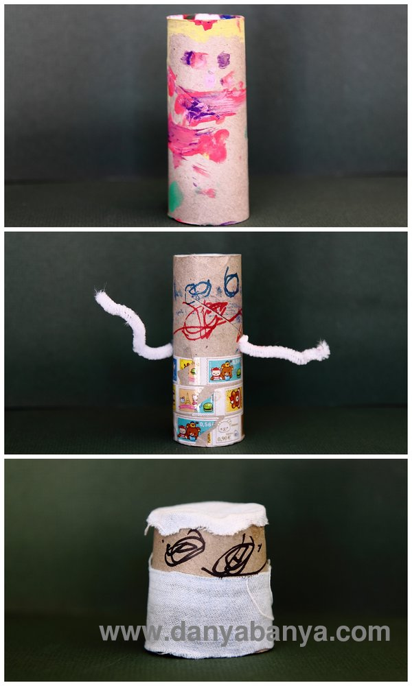 kid-made tp roll dolls