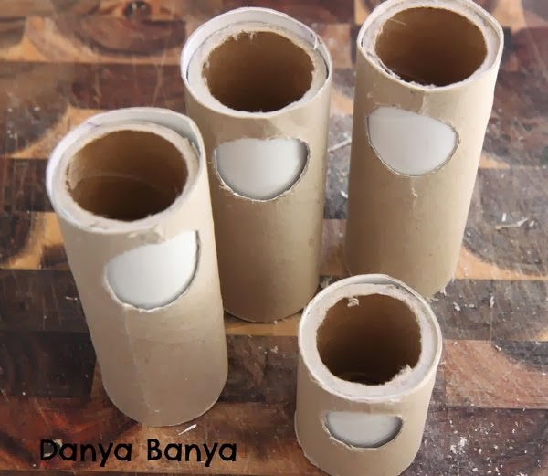 Making blank emo dolls with cardboard tube and toilet paper rolls