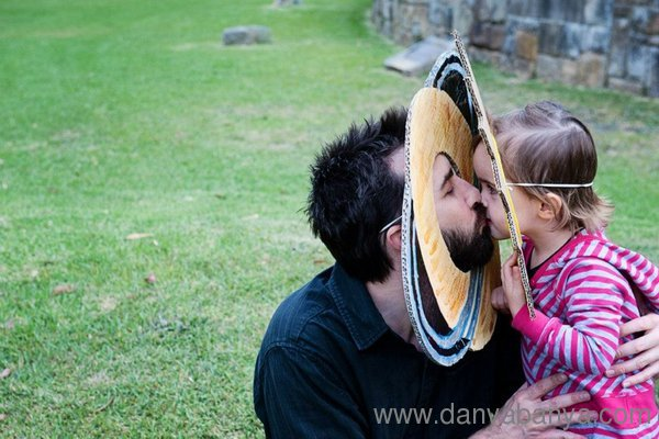 Saturn kissing the sun - father daughter love